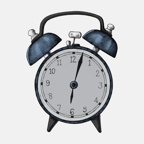 Hand-drawn alarm clock illustration