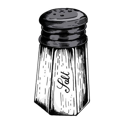 Handgezeichnete Salzstreuer