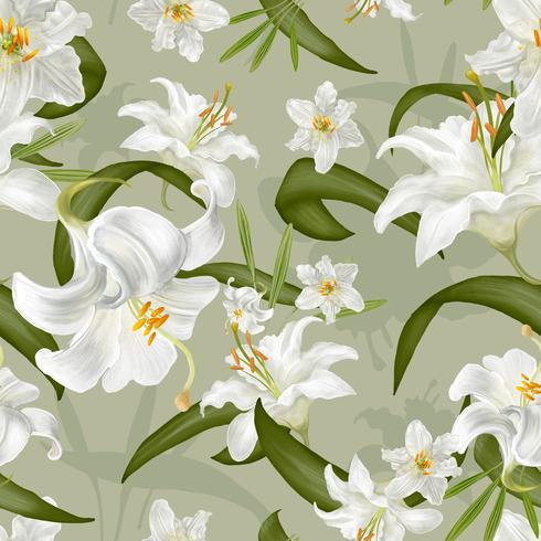 Ilustração de desenho de flores de lírio