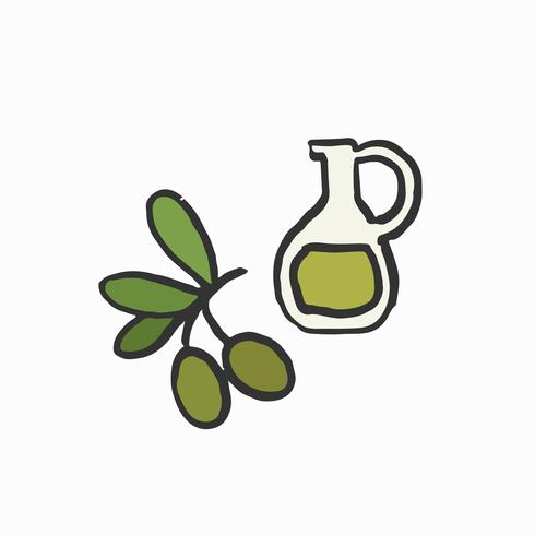 Extra virgin olive oil illustration