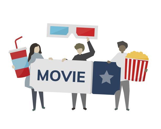 Ilustração do conceito de entretenimento de filme