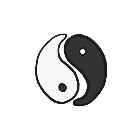 Illustration des symboles Taijitu, Yin et Yang