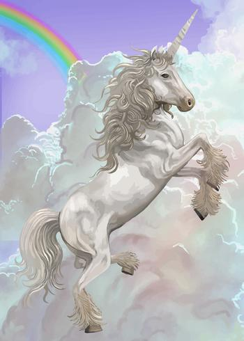 Hand drawn unicorn