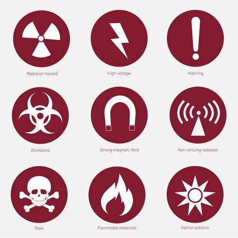 Collection de panneaux d'avertissement illustrés