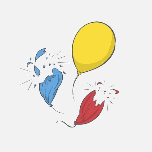 Hand tekening illustratie van vrijheid concept