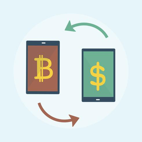 Illustration des Bitcoin-Konzeptes