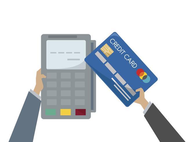 Illustration av kreditkortsbetalning
