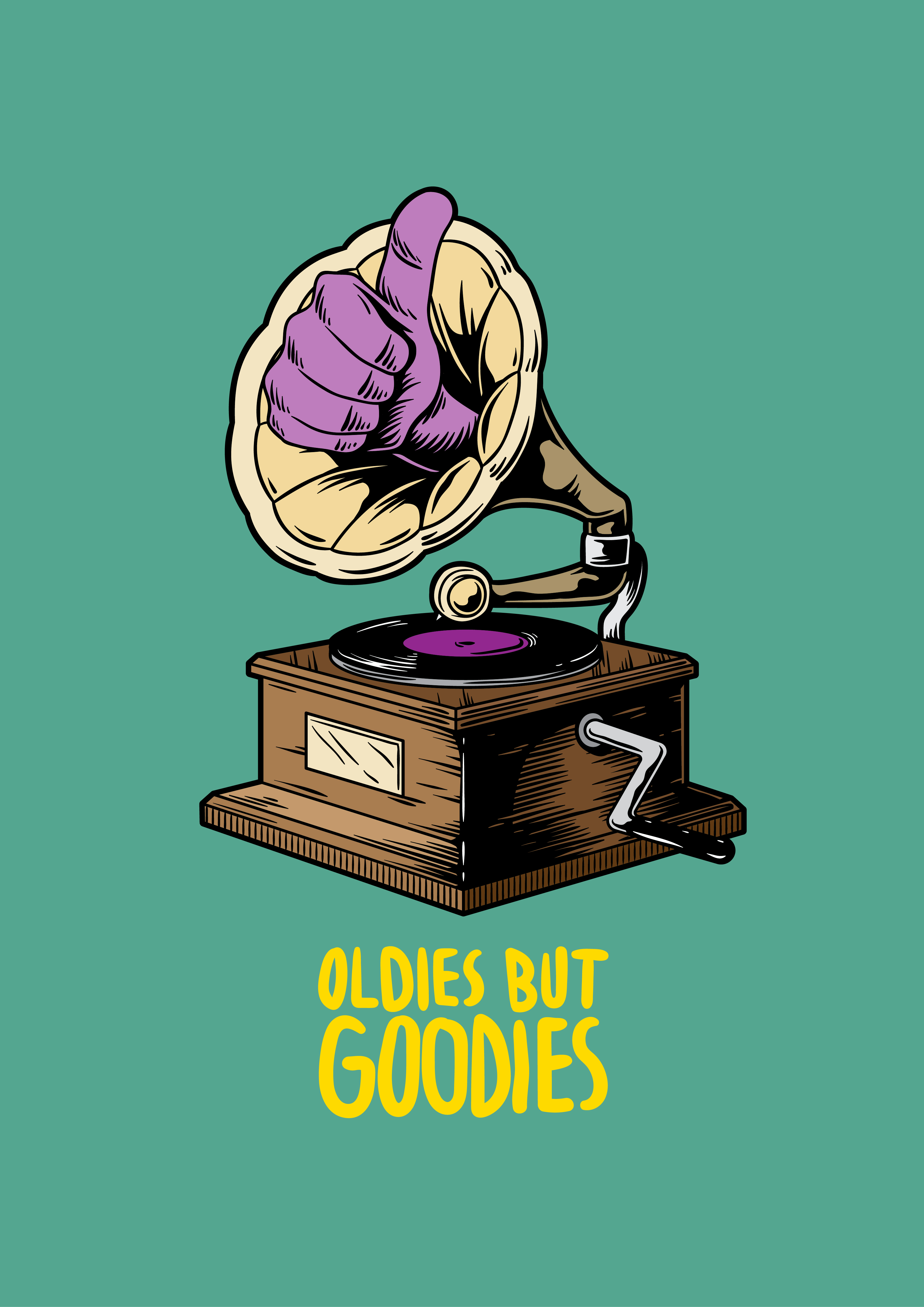 Oldies But Goodies Music Creative Illustration Download