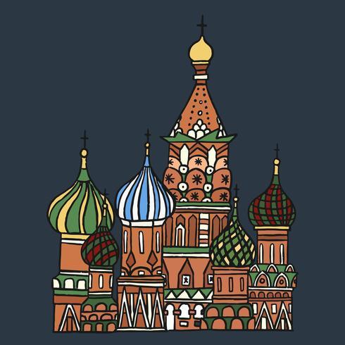 St de Kathedraal van het basilicum in Moskou, Rusland