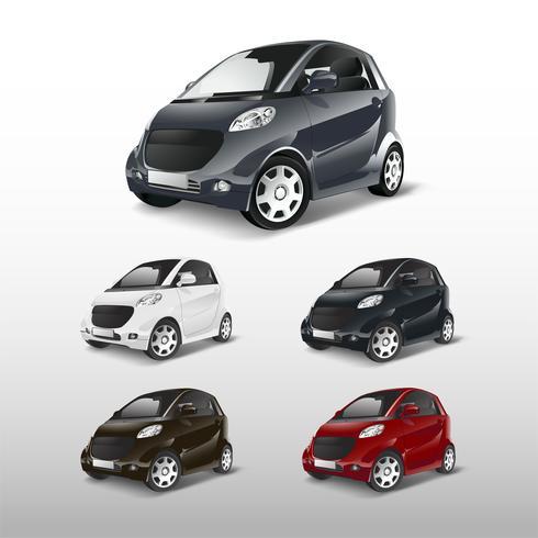Conjunto de vetores de carros híbridos compactos