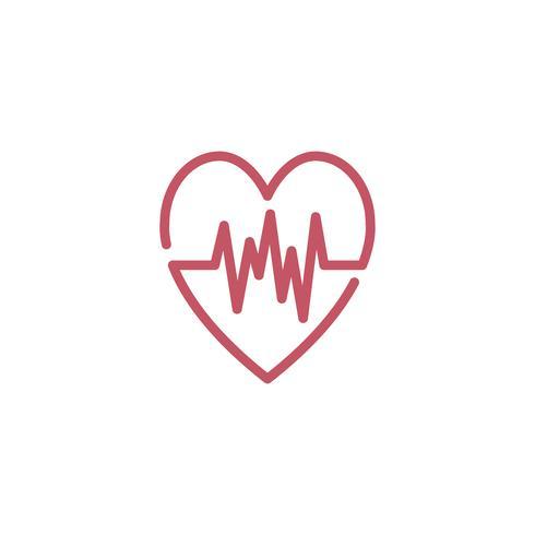 Icône de cardiogramme de fréquence cardiaque
