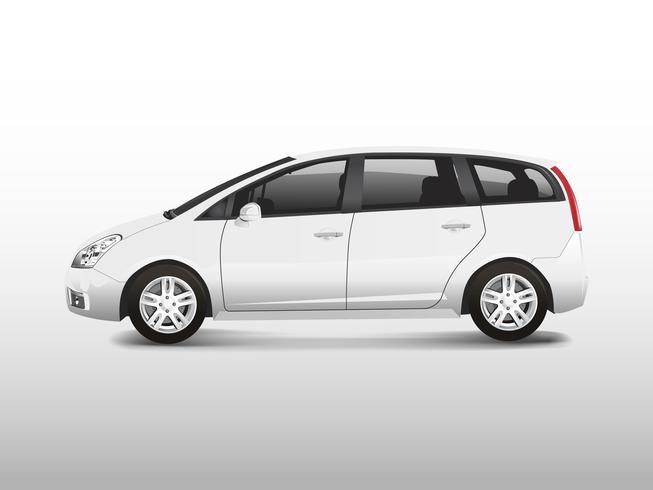 Vetor de automóvel monovolume branco MPV