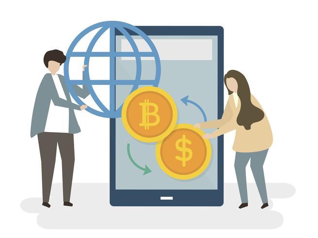 Pengar utbyte ikon i mobilen