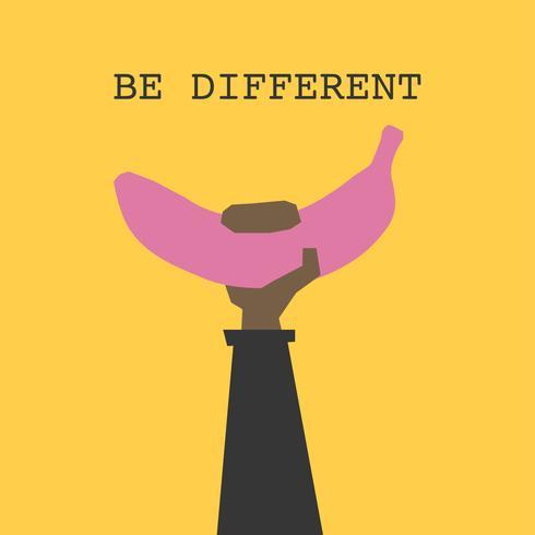 Sé diferente como un plátano rosado