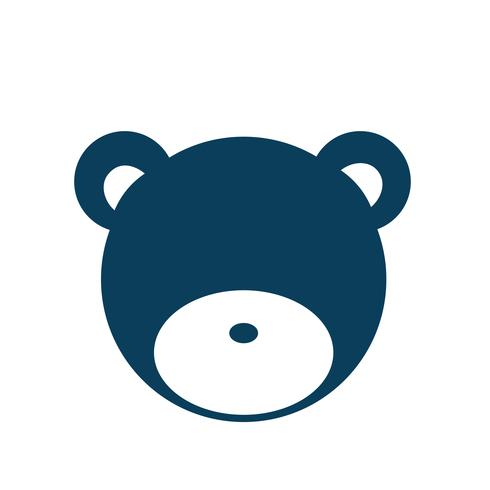 Teddy bear kid's toy icon illustration