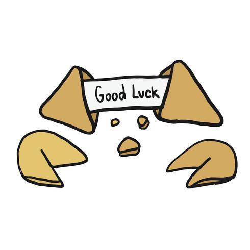 Hand drawn fortune cookie illustration
