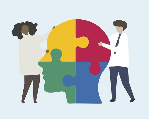 Teamwork beim Lösen des menschlichen Verstandes