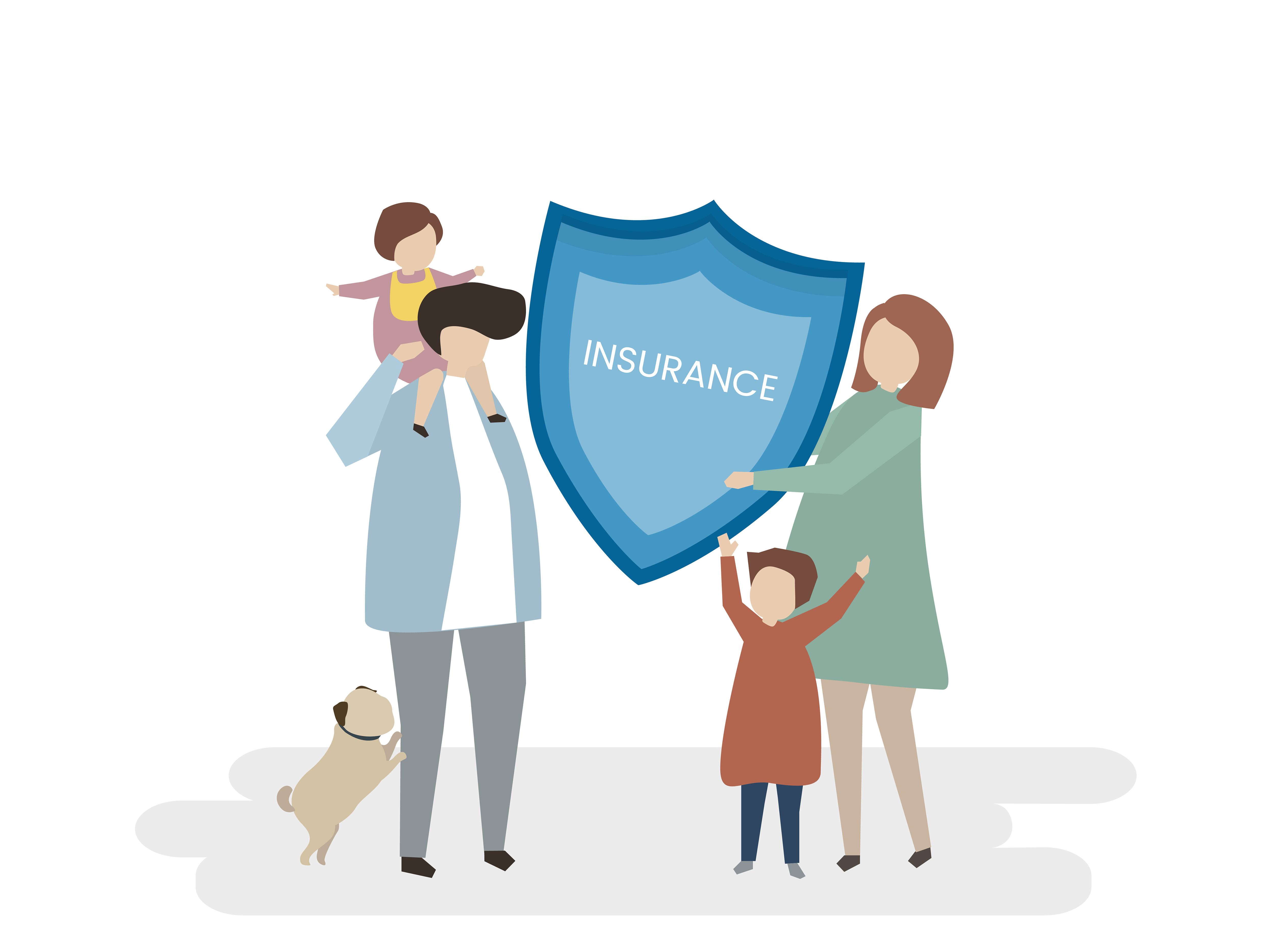 Illustration of family life insurance - Download Free ...