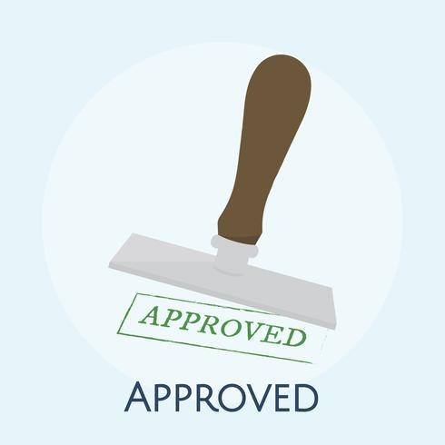 Ilustração, de, aprovado, selo