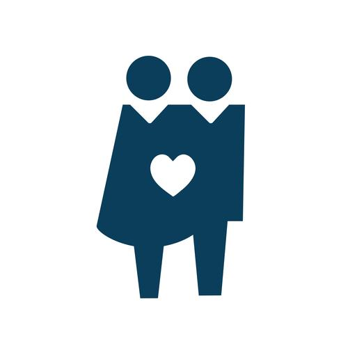 Couple in love icon pictogram illustration