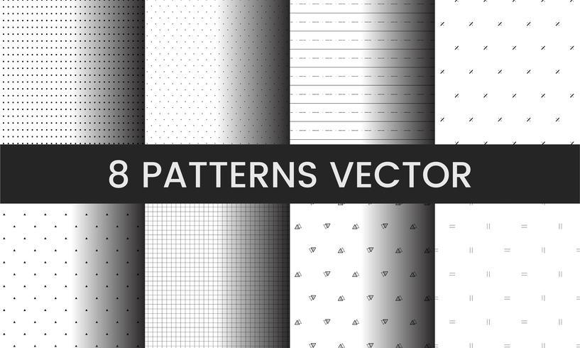 Verzameling van patroon vectoren illustratie