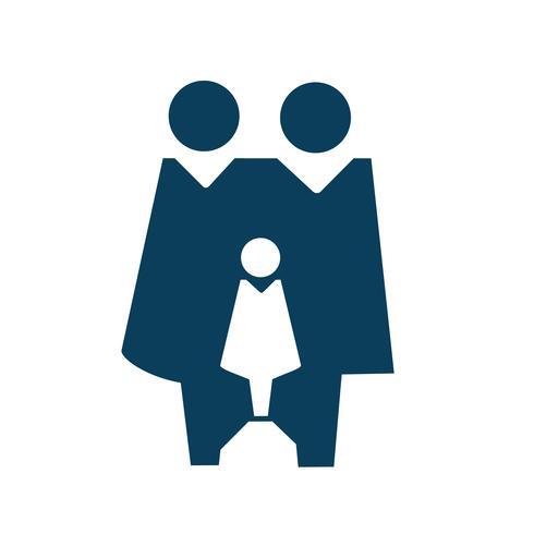 Familienzeichenikonen-Piktogrammillustration