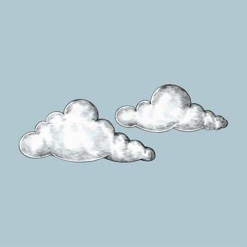 Illustration de nuages dessinés à la main