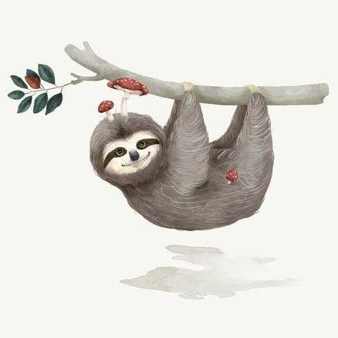 Ilustração de uma preguiça