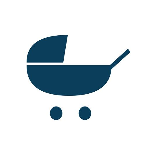 Baby stroller icon pictogram illustration