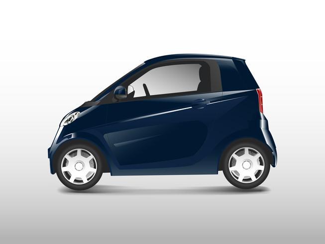 Blå kompakt hybridbil vektor