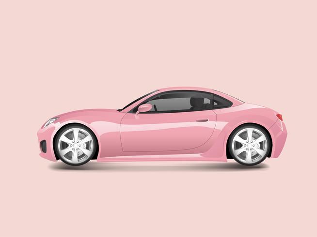 Rosa deportivo en un vector de fondo rosa
