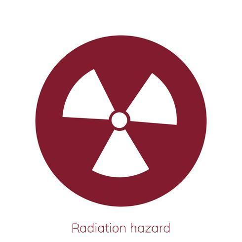 Illustrazione del segno di attenzione di radioattività