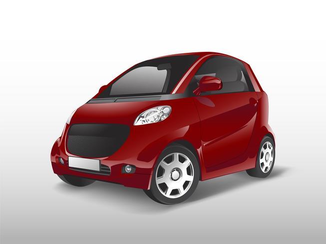 Vetor de carro híbrido compacto vermelho