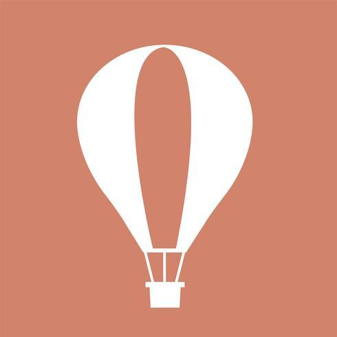Heißluftballonflug auf rosa Hintergrund