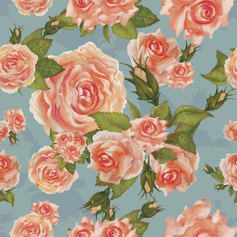Dibujo de ilustración de rosas de jardín