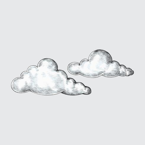Illustration de nuages dessinés à la main