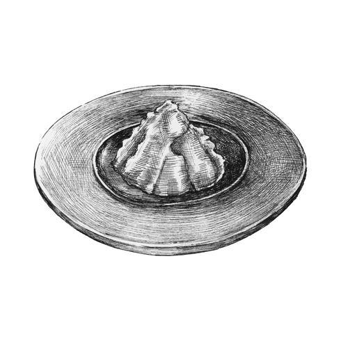 Hand gezeichneter Wasabi lokalisiert auf weißem Hintergrund