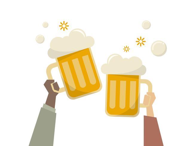 Illustration av människor som har öl