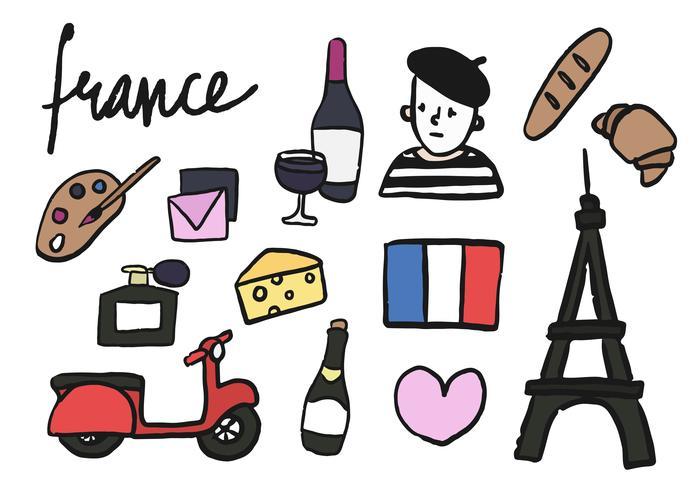 Symbolen van de inzamelingsillustratie van Frankrijk