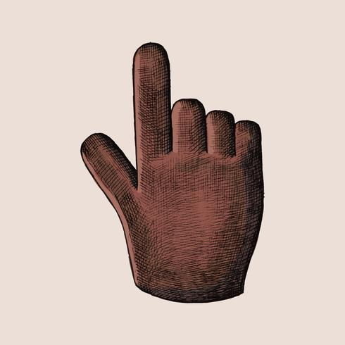 Von Hand gezeichnete rote Handcursorillustration