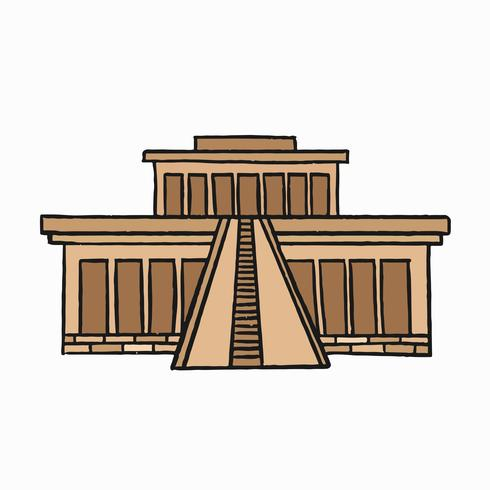 Hueshepsuts hushålls tempel, gamla begravningsgudinnan i Egypten