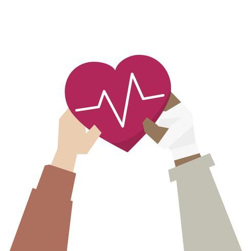 Illustration du concept d'appui à la santé