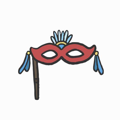 Handritad italiensk Masquerade mask