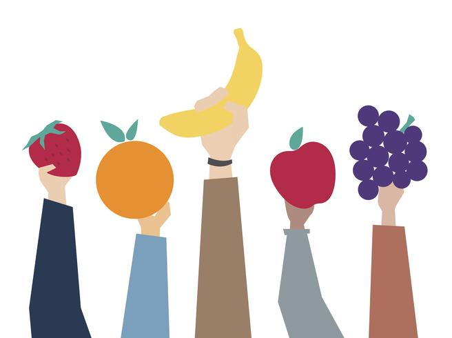 Illustrazione del concetto di mangia sano