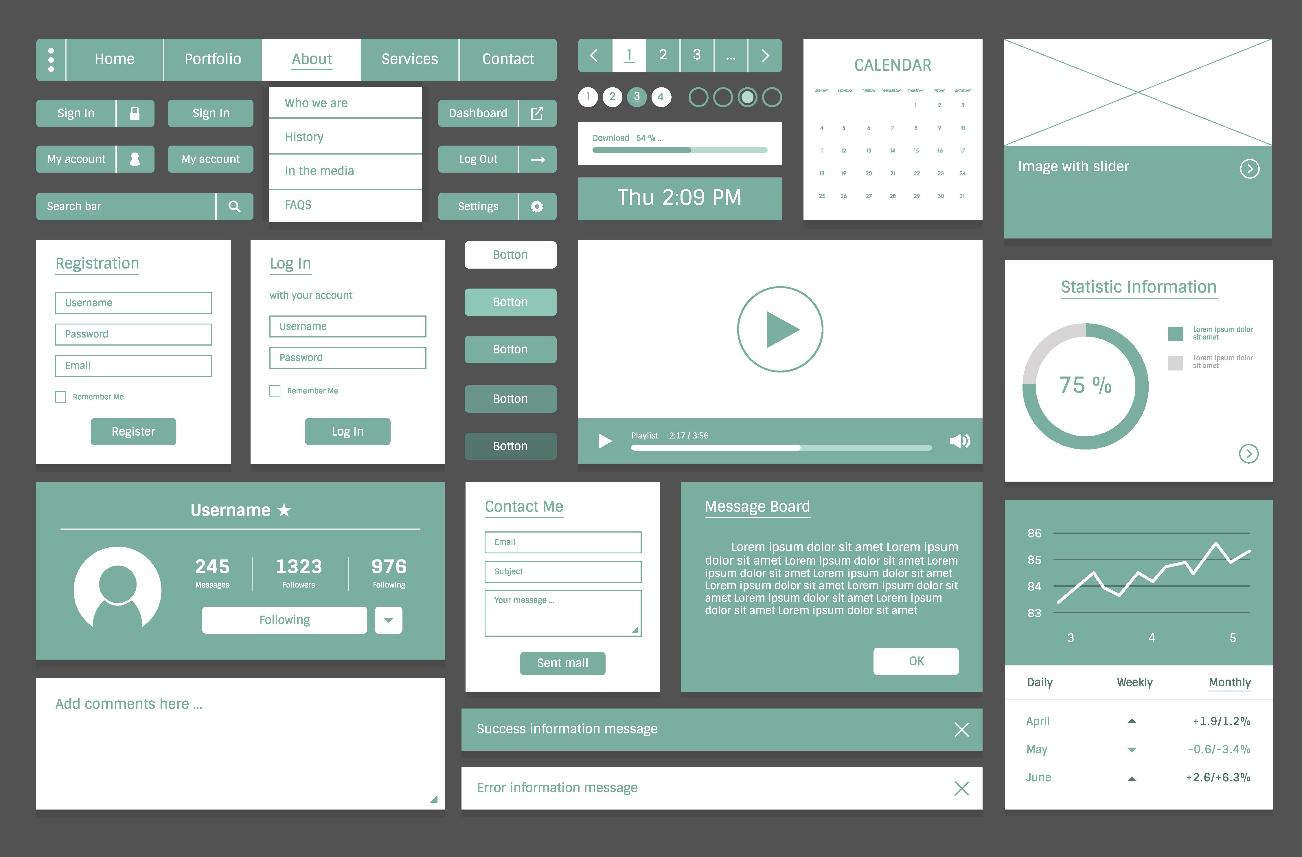 Website design template layout illustration Download