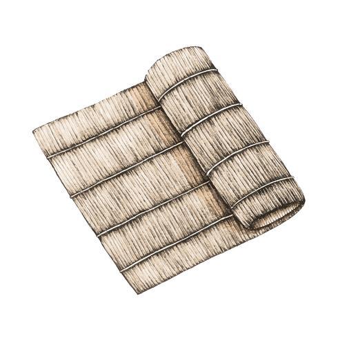 Illustratie van bamboeplaat