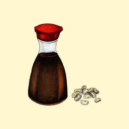 Ilustración de soja y salsa