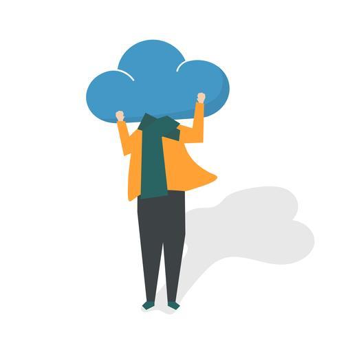 Illustration av avatar sociala nätverkskoncept