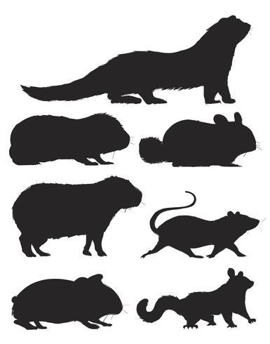 Illustration ritstil av råttsamling