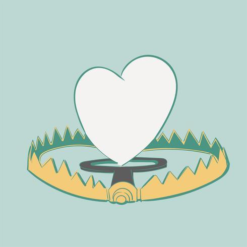 Handritning illustration av kärlekskoncept